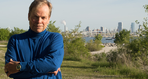 Ted Schaar on Milwaukee lakefront.